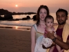 Mohan and Carol with their daughter Lily, Agonda Beach
