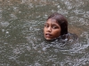 Swimming in the rain, Ambubachi Mela, Kamakhya Mandir, Guwahati