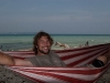 Me in the hammock where I slept on Neil Island