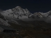 Moon lit Annapurna Base Camp.