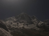 Moon lit Annapurna Base Camp