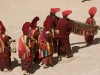 Monk procession during a festival at Phyang Monastery.