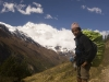 A resting porter near Ghyanu Annapurna circuit trek.