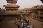 View from my hotel room over Tachupal Tole, Bhaktapur.