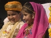 Children in a carriage during the parade in Bundi.