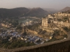 View of city palace from the fort, Bundi.