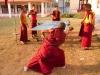 Yong Monks at play Sera Monastery, Bylakuppe