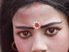 Girl made up for a procession, Kailghat, Calcutta.
