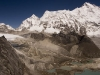 Cho Oyu from the 5553 m/18,214 ft summit of Ngozumpa-tse known as Knobby View, Gokyo Valley.