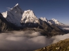Ama Dablam from the trail to the Kongma La.
