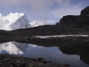 Ama Dablam reflected in a lake near the Kongma La.