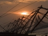 Sunset and Chinese fishing nets, Fort Cochin.