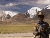 Tibetan shepherd, road to the border.