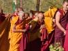 Monks greeting the Dalai Lama at his teachings in Leh