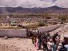 Crowds leaving the Dalai Lama's teachings in Leh