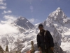Me in front of Everest (left) and Nuptse (right) from Kala Pattar.