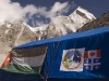 Jordanian and Canadian/Quebec flags on a tent at the camp I stayed at, Everest Base Camp.  The first woman from Quebec to summit Everest reached the summit while I was staying at Base Camp.