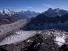 "View towards 4th lake while climbing ""Frostbitten Fingers,"" Gokyo Valley"