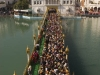 Pilgrims waiting to get into the Golden Temple, Amritsar.