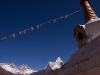 Stupa with Ama Dablam, Lhotse, and Everest.