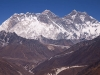 View of Lhotse, and Everest, from the ridge behind Deboche.