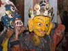 Monks preparing for Cham dance, Hemis Festival.
