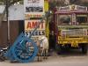 Street scene in Hyderabad.