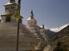 Stupas between Jomsom and Marpha.