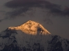 Dhaulagiri (8167 m or 26,951 ft) at sunrise from Poon Hill.