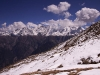 View of the Kinnaur Kailash range from above Kalpa