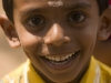 Smiling kid at Theyyam performance, in Kannur District.