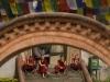 Tibetan monks, Swavambhunath Stupa, Kathmandu