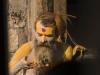 "Sadhus getting ""done up,"" Pashupatinath, Kathmandu."