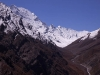 View up the valley towards the Charang La