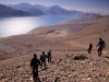 Hiking down from the hill behind Spangmik, Pangong Lake