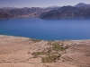 Spangmik and Pangong Lake from above