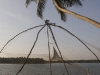 Chinese fishing net on the north end of Vypin Island.  Near Kodungallor.