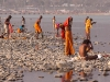 Sadhus bathing in the Ganga, Kumbh Mela, Haridwar