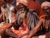 Sadhus at lunch, Kumbh Mela, Haridwar