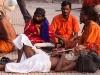 Sadhus hanging out on Somvati Amavasya, Kumbh Mela, Haridwar