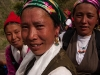 Women of Langtang on their way down to retrieve articles for a new gompa