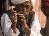 Smoking a pipe in Jaipur.