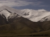 Snow capped peak over 20,000 ft high along the rail route into Tibet.