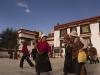 Pilgrims circling the Jokhang, Lhasa.