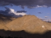 Hills above Leh at sunset.