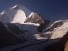 7000 m peak of Nun from my camp above Parkachik Glacier