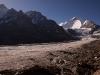 View of Nun & Parkachik Glacier while hiking towards Nun