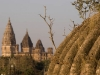 Towards Chaturbhuj Temple from the Cenotaphs, Orchha.
