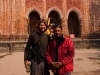 Me and the friendly local who showed me aound, Kantanagar Temple