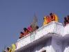 """Women watching the """"Spiritual Walk,"""" from a rooftop, Pushkar Camel Fair."""